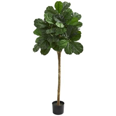 Indoor 5 ft. Fiddle Leaf Fig Artificial Tree