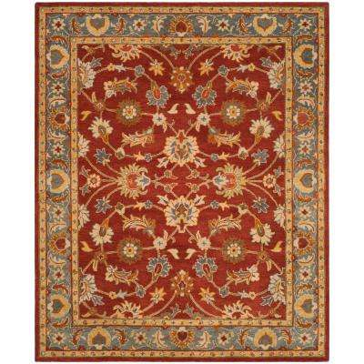 Heritage Red/Blue 9 ft. x 12 ft. Area Rug