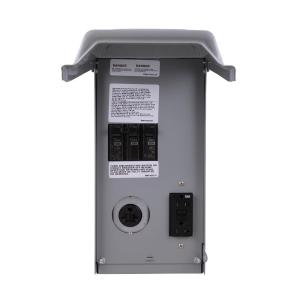 Ge Site Power 100 Amp 4 Space 4 Circuit Temporary Gfci Power Outlet