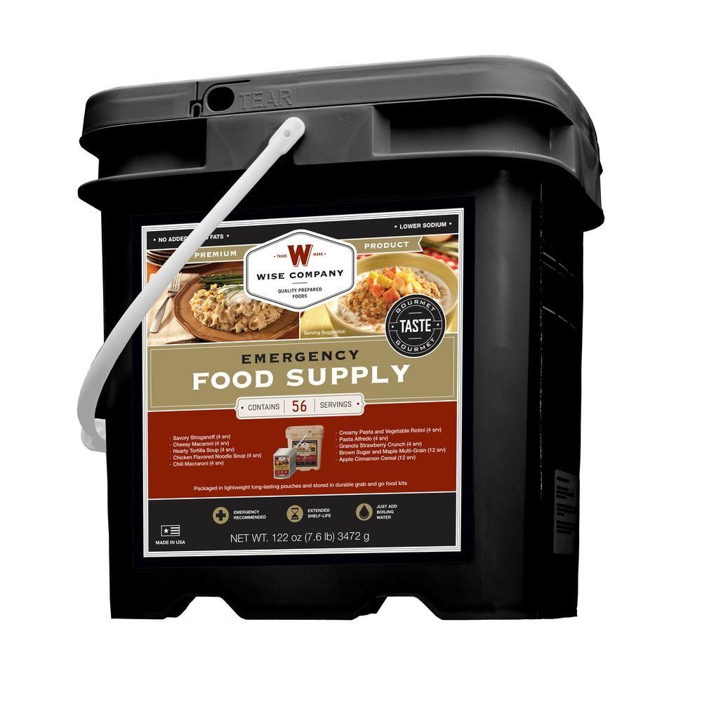 Wise Company 56 Serving Breakfast & Entree Grab and Go Bucket