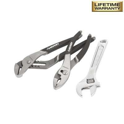 Pliers and Wrench Set (3-Piece)