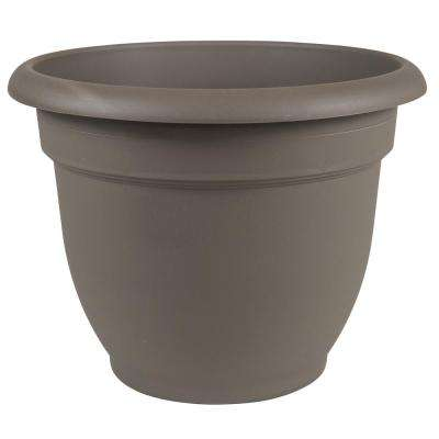 Ariana 16 in. Peppercorn Plastic Self Watering Planter