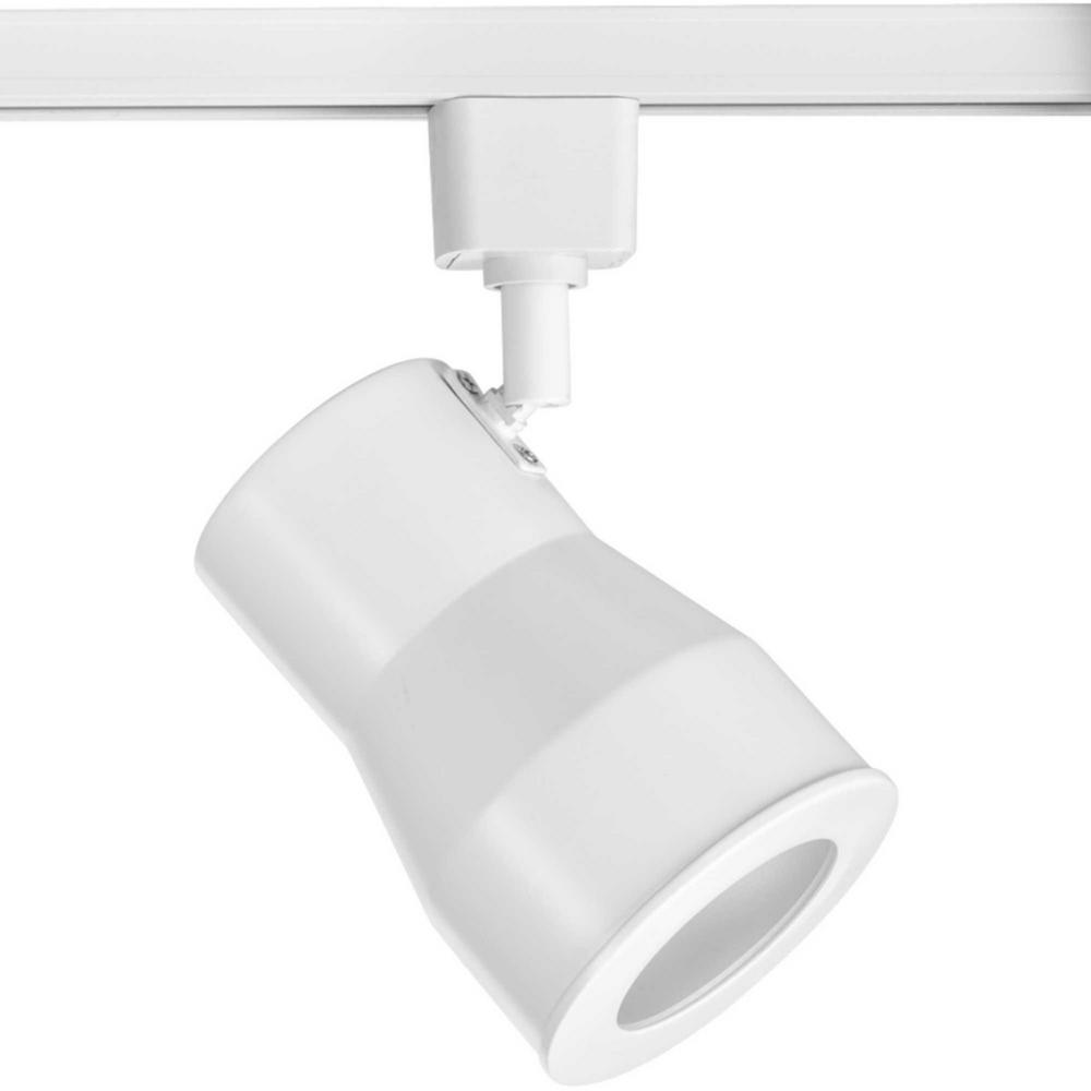Led Track Light Head White: Progress Lighting White Integrated LED Track Lighting Head