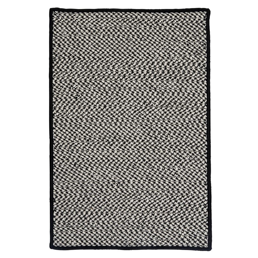 Sadie Black 3 ft. x 5 ft. Indoor/Outdoor Braided Area Rug