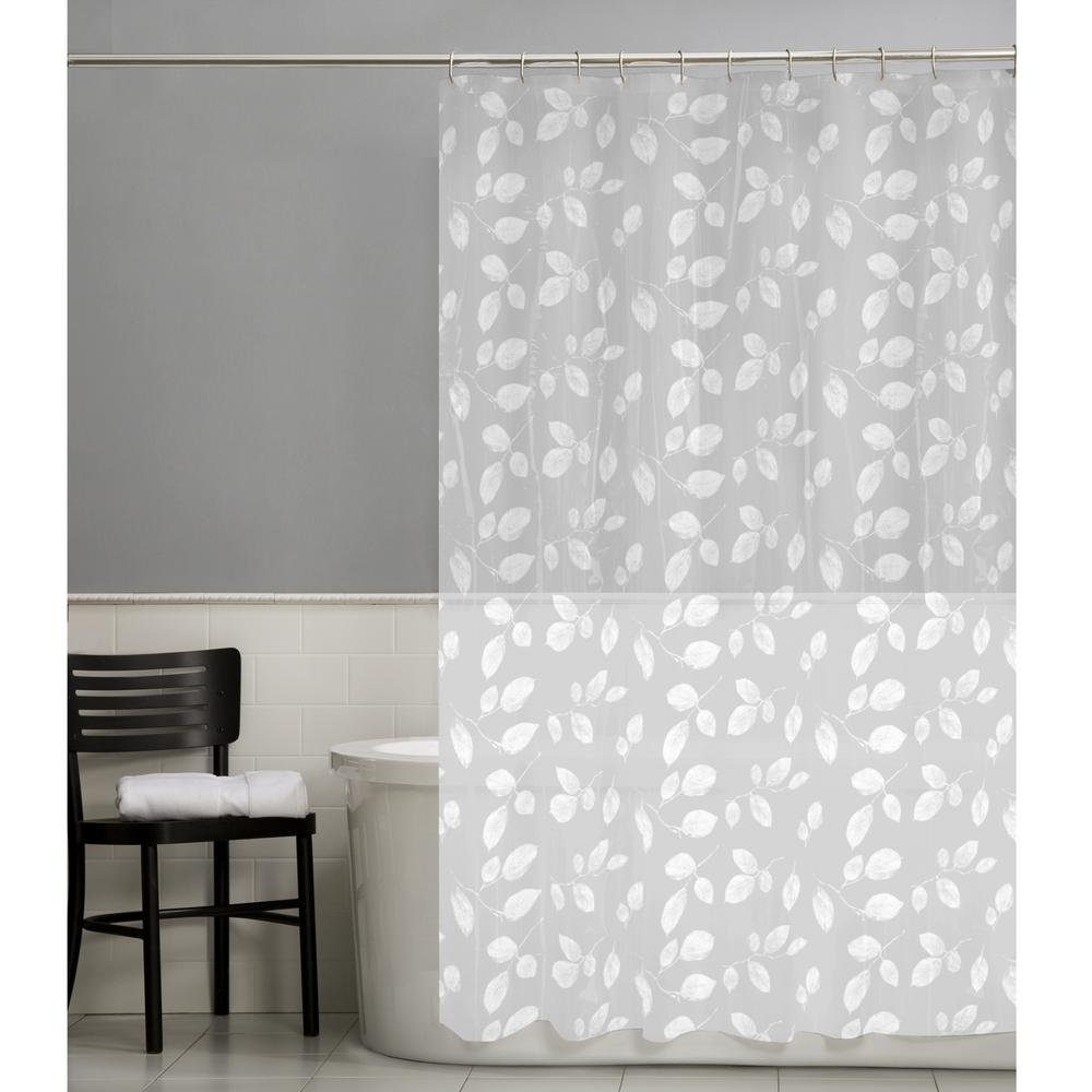 Just Leaves PEVA Waterproof Shower Curtain