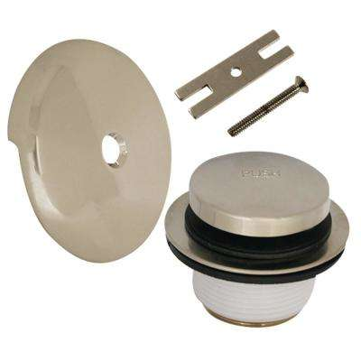 Touch Toe Bath Drain Kit in Brushed Nickel
