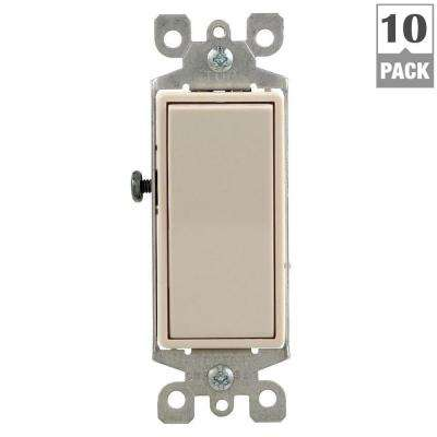 Decora 15 Amp 3-Way Switch, Light Almond (10-Pack)