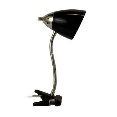 All The Rages 14 in. Black Flossy Flexible Gooseneck Clip Light