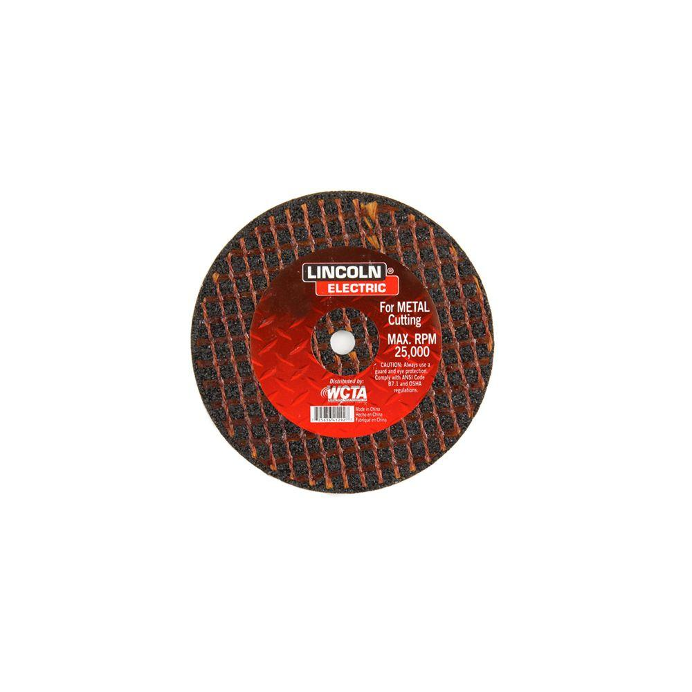 Lincoln Electric 3 in. x 1/32 in. Red 3/8 in. Arbor Cut-Off Wheel