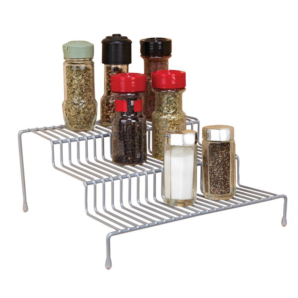 3-Tier Spice Rack Shelf Organizer in Grey