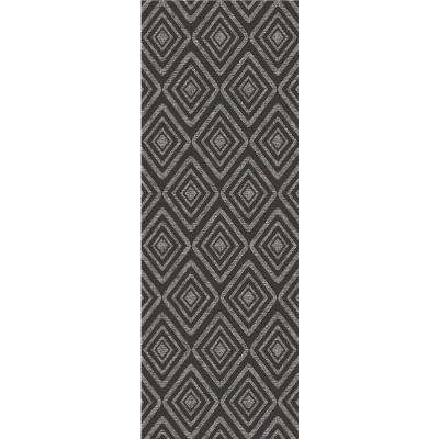 Washable Prism Black 3 ft. x 7 ft. Runner Rug