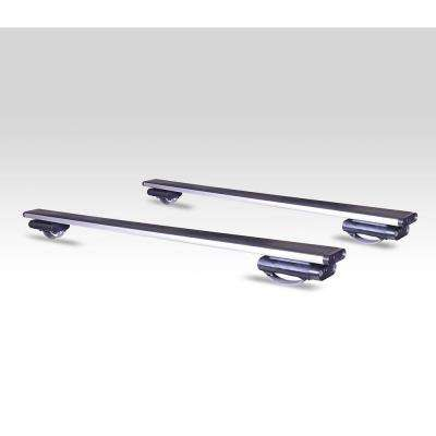 165 lbs. Capacity 45 in. Locking Aluminum Roof Bars for Vehicles with Raised Factory Rood Rails