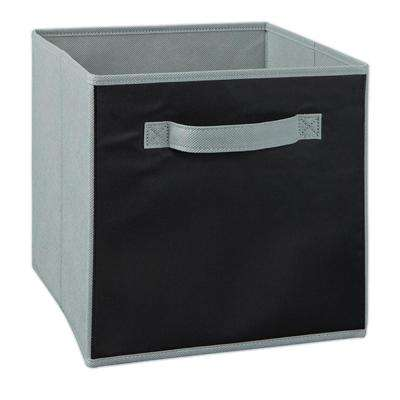 11 in. H x 11 in. W Gray Chalkboard Fabric Drawer