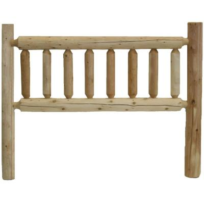 Shelly 56 in. x 4.5 in. x 48 in. Natural Full Adult Slat Headboard