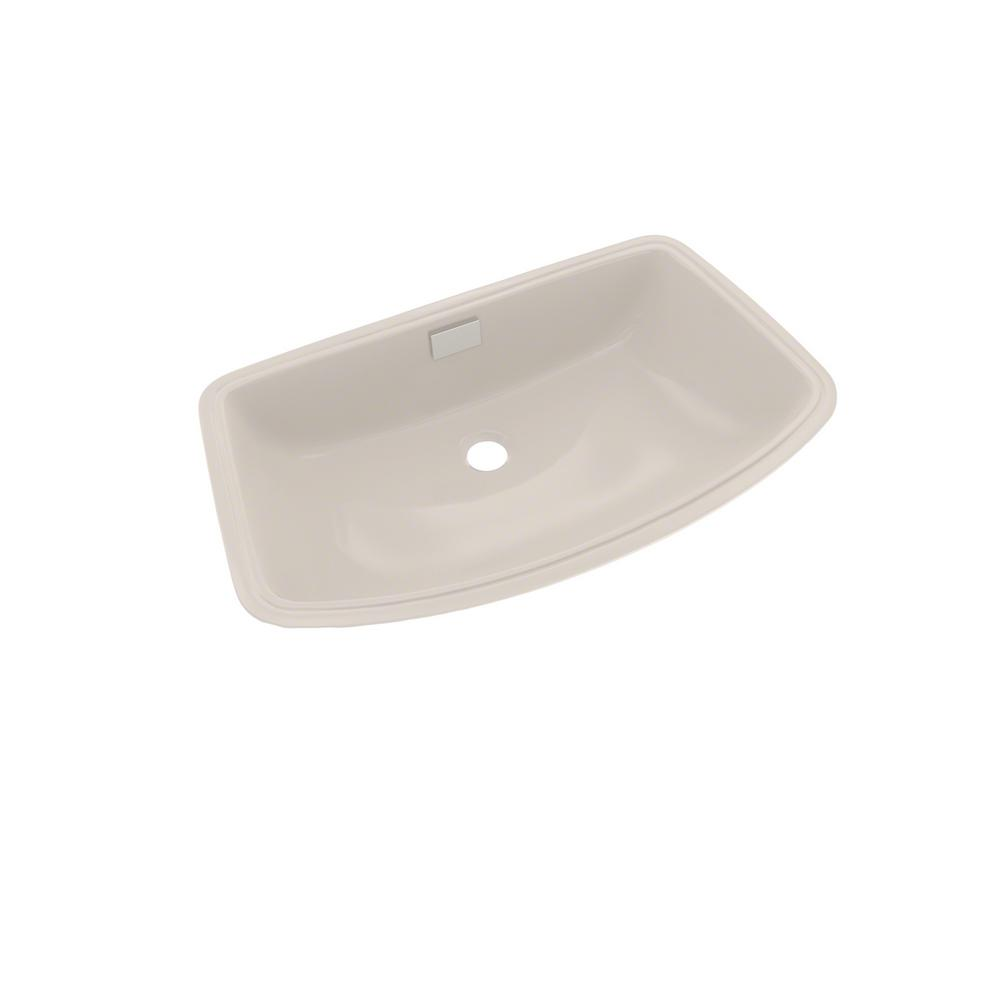 beige bathroom sink toto soiree 25 in undermount bathroom sink in sedona 12033 | sedona beige toto undermount bathroom sinks lt967 12 64 1000