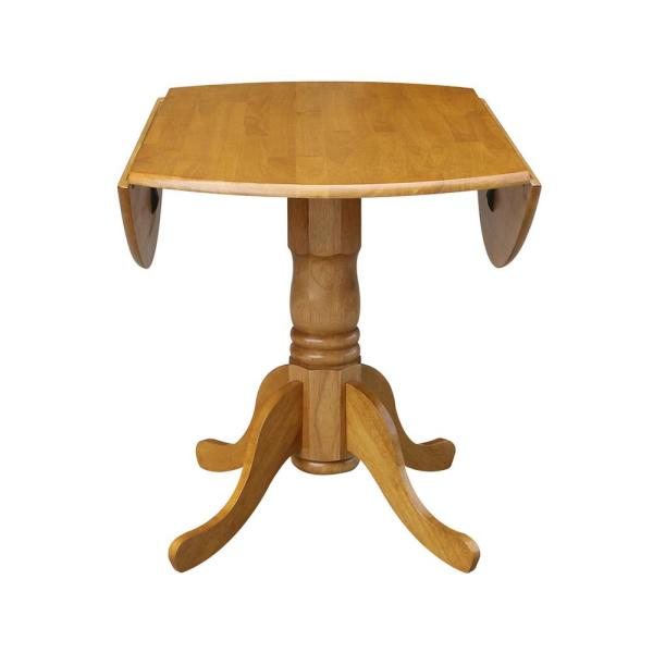 Landscape Lighting Around Pool, International Concepts Oak Solid Wood Dropleaf Dining Table T04 42dp The Home Depot