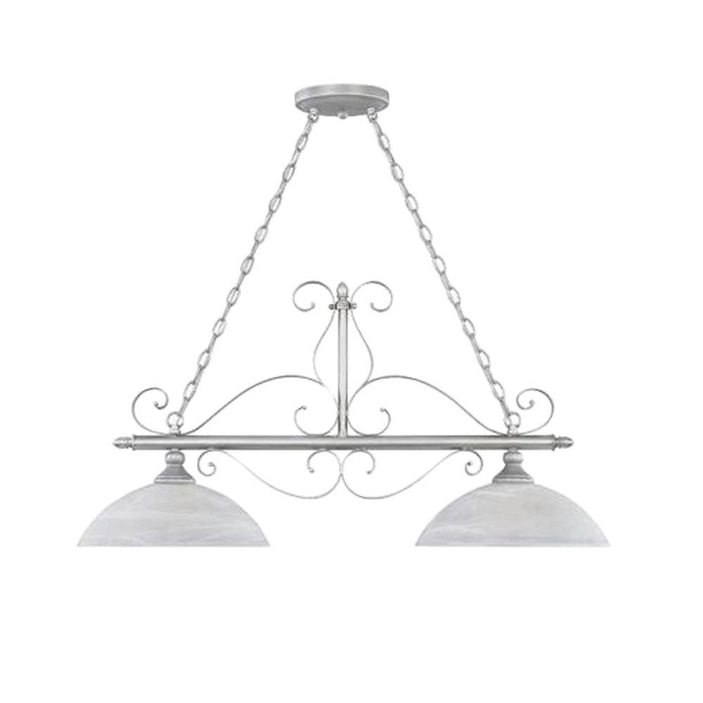 Designers Fountain Downey Collection 2-Light Hanging Matte Pewter Island Light