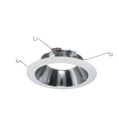 ML 6 in. White LED Recessed Ceiling Light Specular Reflector and Flange Attachable Module Trim