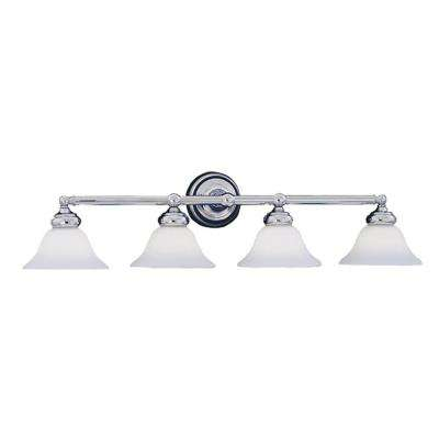 Redondo Collection 4-Light Chrome Wall Mount Vanity Light