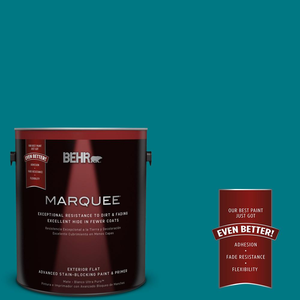 BEHR MARQUEE 1-gal. #P470-7 The Real Teal Flat Exterior Paint