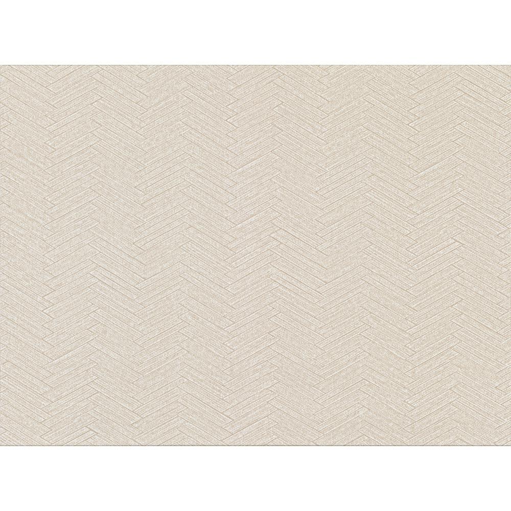 8 in. x 10 in. Karma Off-White Herringhone Weave Sample