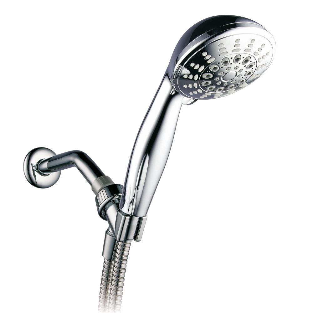 Hotel Spa 7-Spray Hand Shower with Extra Flexible Stainless Steel Hose in Chrome