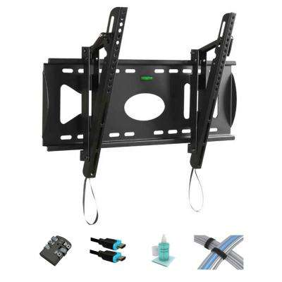 32 in. to 80 in. Advanced Tilt TV Wall Mount Bracket with HDMI Cables and Surge Protector