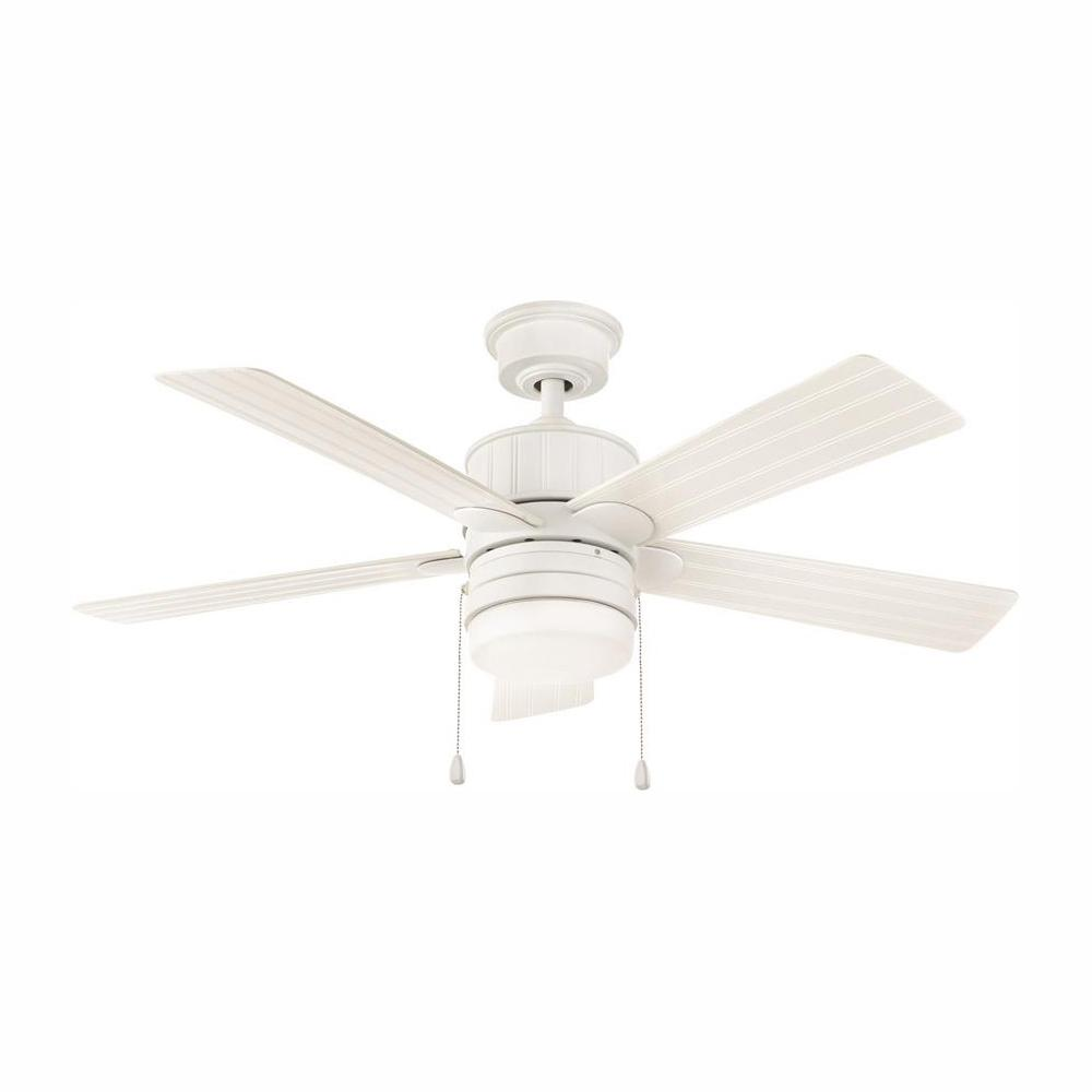HomeDecoratorsCollection Home Decorators Collection Piersson 44 in. LED Matte White Ceiling Fan