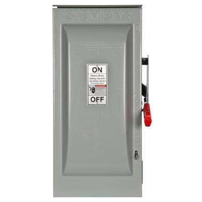 Heavy Duty 100 Amp 600-Volt 2-Pole Outdoor Fusible Safety Switch