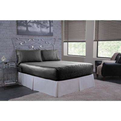 Satin Black King Sheet Set
