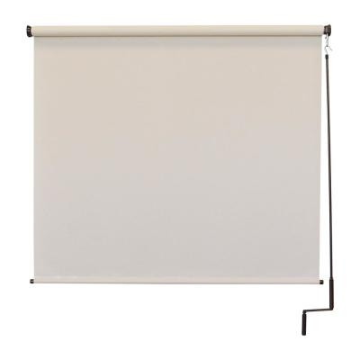 Redondo Cordless UV Protection PVC Outdoor Roller Shade Pole Operated 84 in. W x 96 in. L