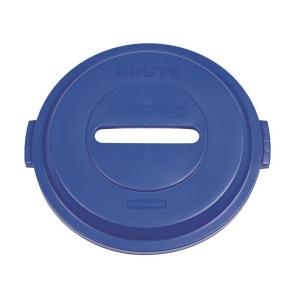 Rubbermaid Commercial Products BRUTE 32 Gal. Blue Round Trash Can Paper Recycling Lid by Rubbermaid Commercial Products
