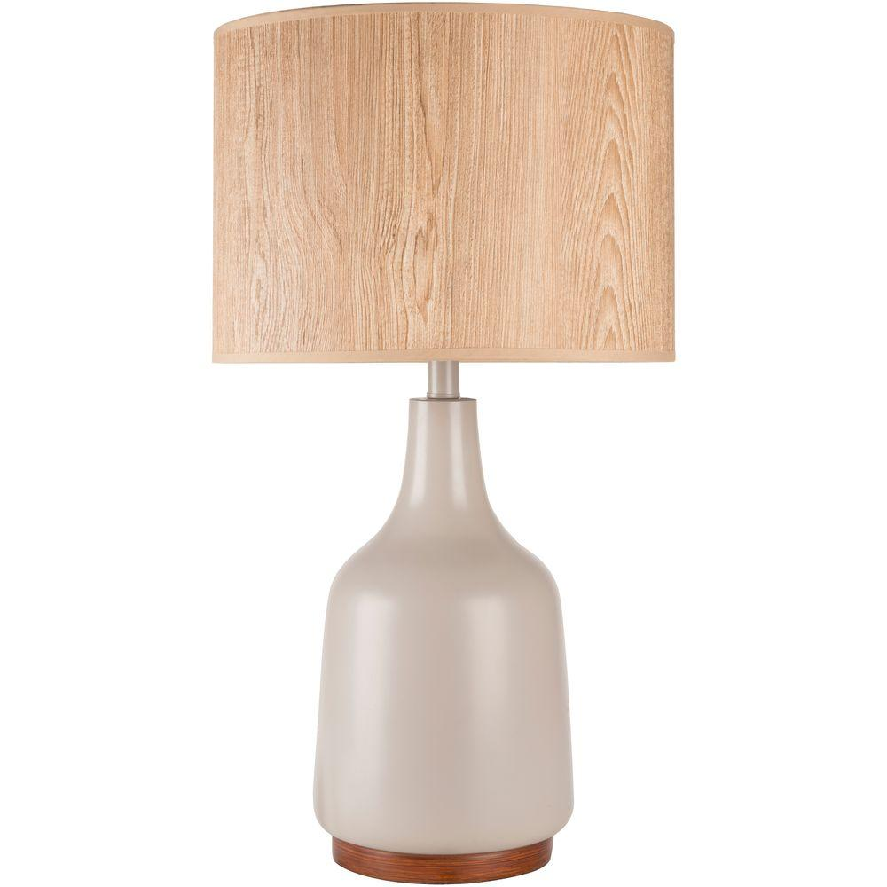 Aldred 25.5 in. Gray Indoor Table Lamp