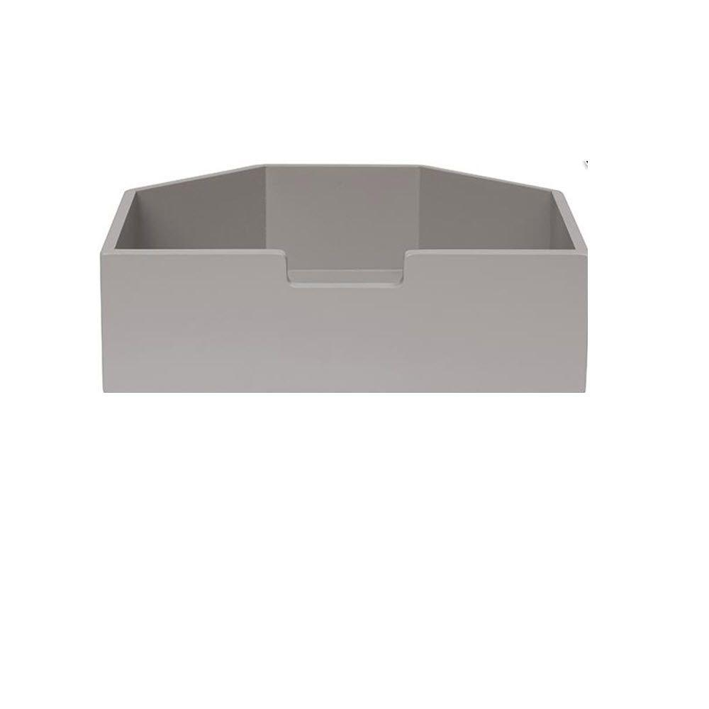 Martha Stewart Living Craft Space 3 lb. Short Cement Gray Angled Cubby Drawer