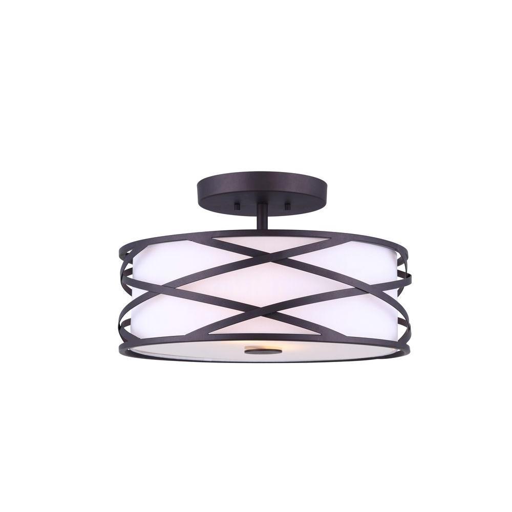 Carlina 2-Light Oil Rubbed Bronze Semi-Flush Mount Light