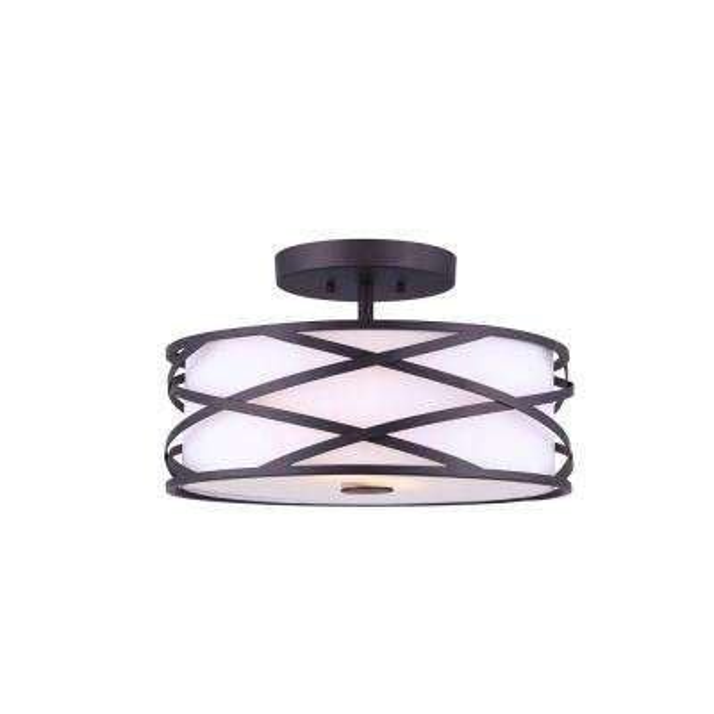 Carlina 2-Light Oil Rubbed Bronze Semi-Flushmount Light
