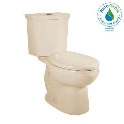 H2Option Tall Height 2-piece 0.92/1.28 GPF Dual Flush Elongated Toilet in Bone