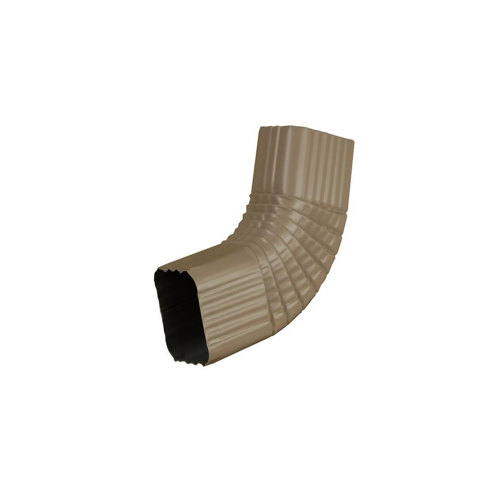 3 in. x 4 in. Natural Clay Aluminum Downspout B Elbow