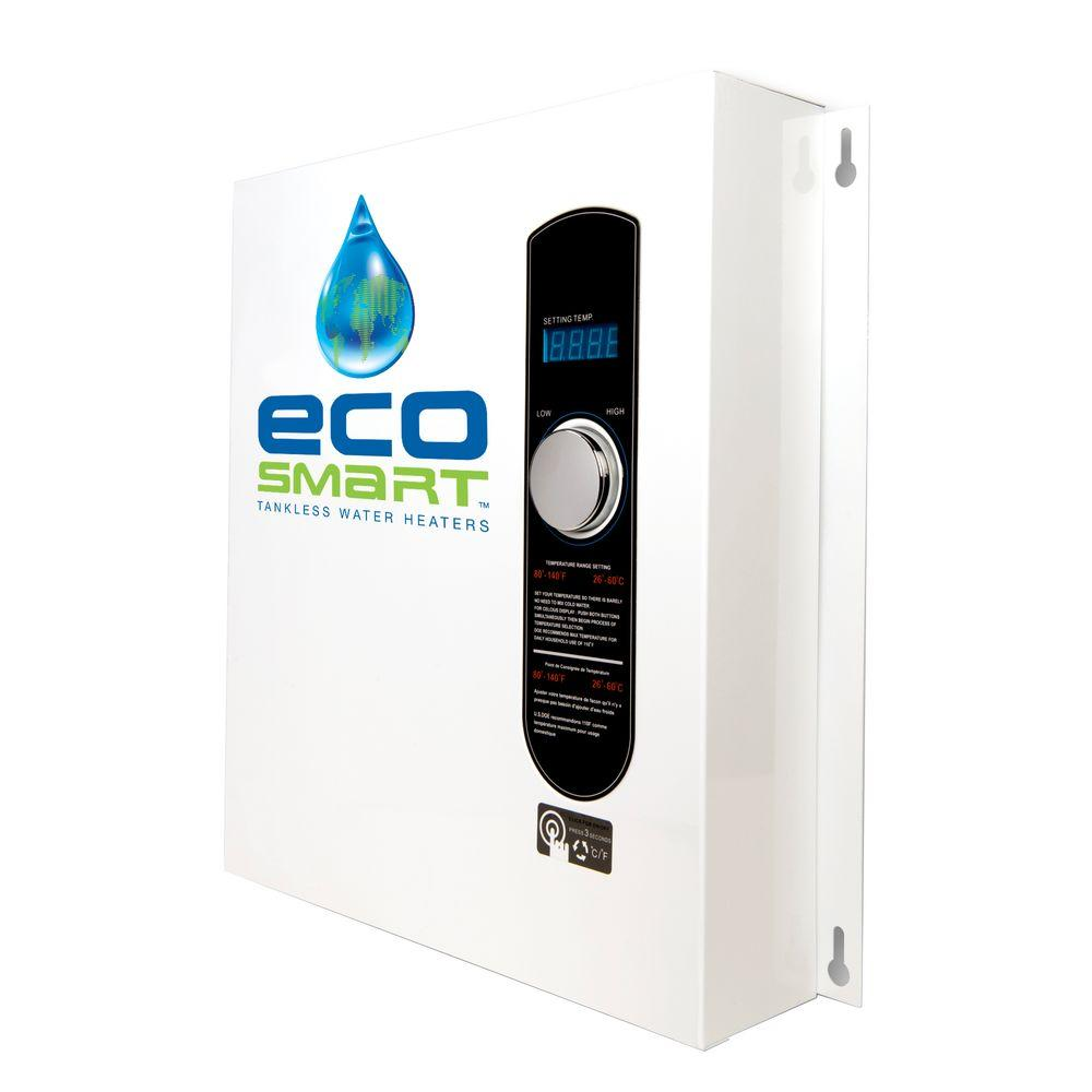 27 kW Self-Modulating 5.3 GPM Electric Tankless Water Heater with Flow