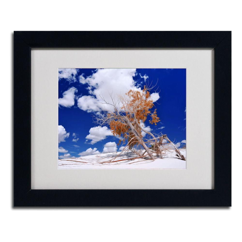 11 in. x 14 in. Burn Tree Matted Framed Art