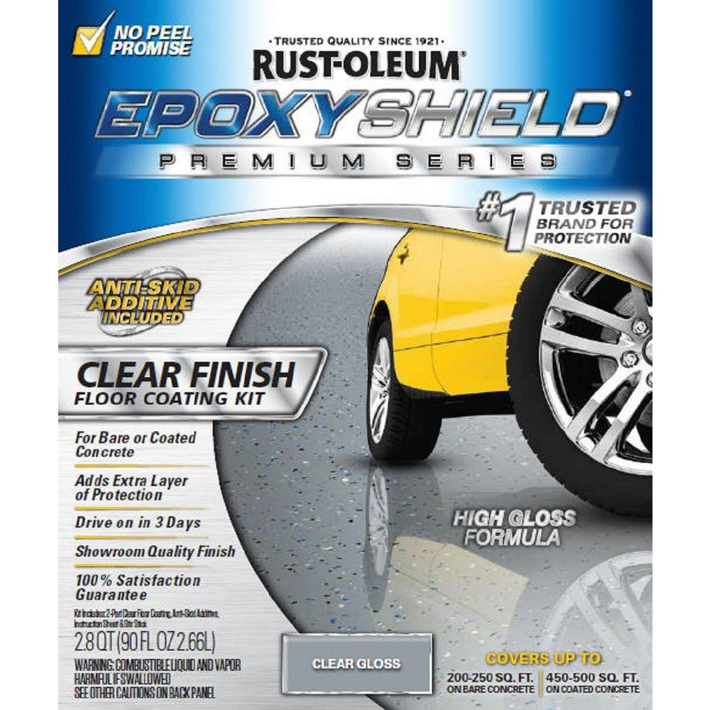 Rust-Oleum EpoxyShield 90 oz. Clear High-Gloss Low VOC Premium Garage Floor Kit