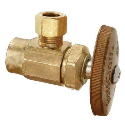 1/2 in. Nominal Sweat Inlet x 3/8 in. O.D. Compression Outlet Brass Multi-Turn Brass Angle Valve (5-Pack)