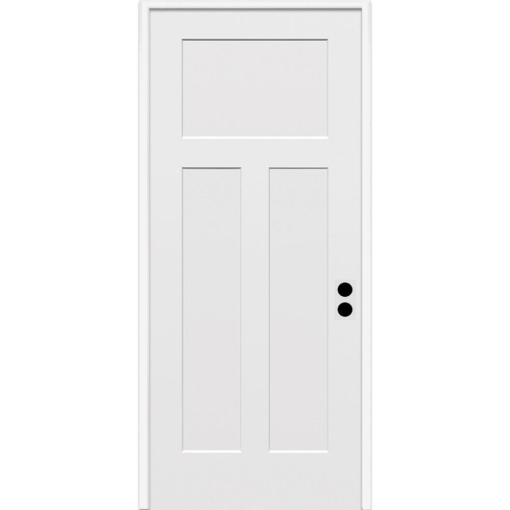 Mmi Door 32 In X 80 In Craftsman Left Hand Primed Composite 20 Min