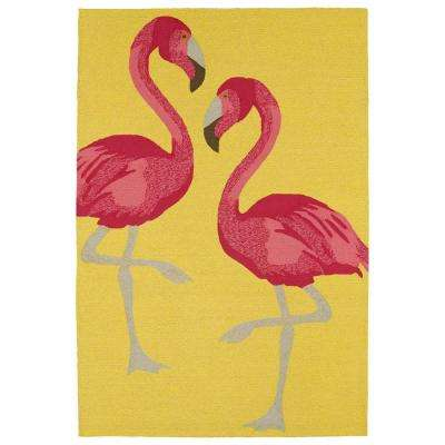 Sea Isle Yellow 9 ft. x 12 ft. Area Rug