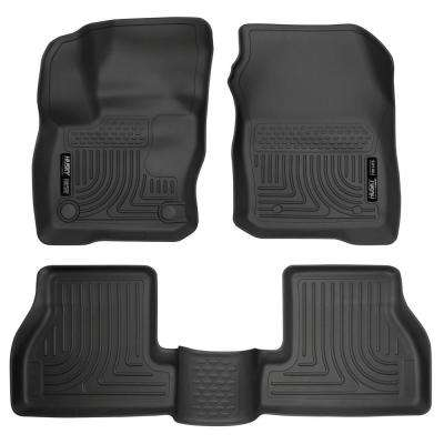 Front & 2nd Seat Floor Liners Fits 16-18 Focus