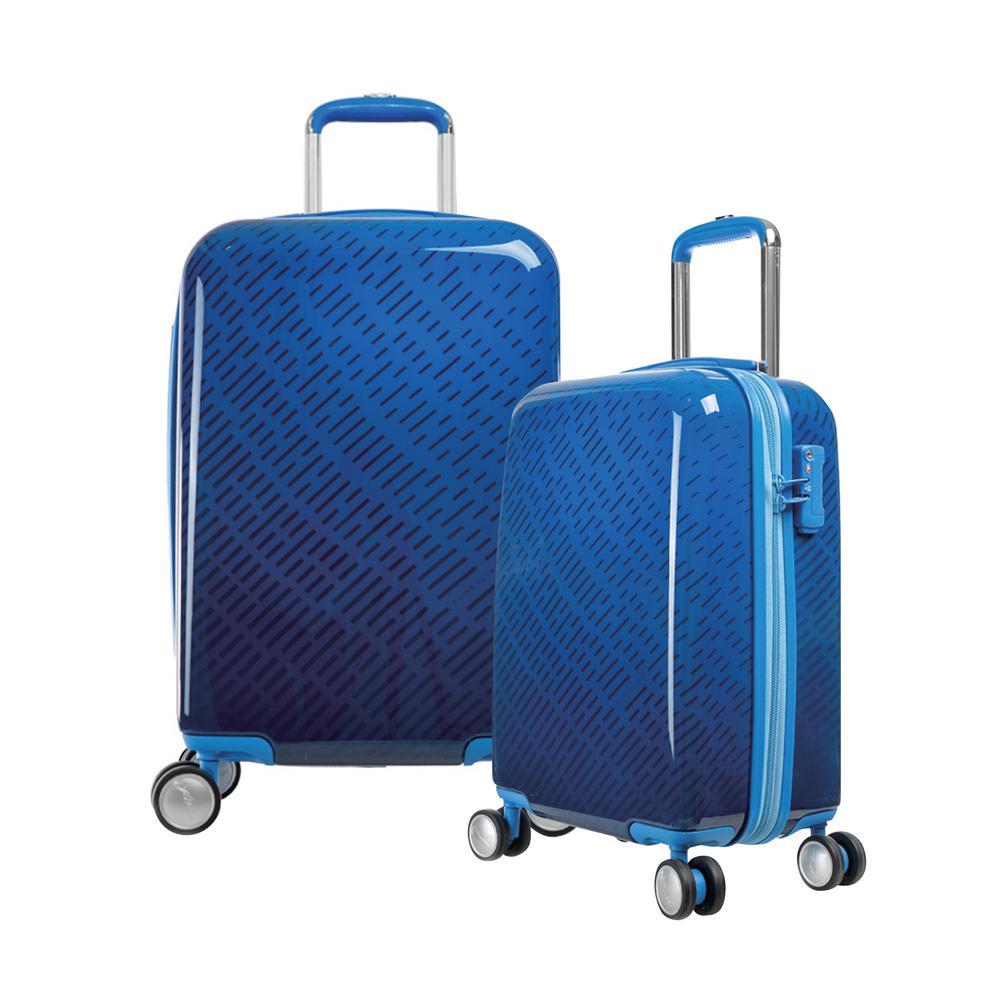T-Line Gam 2-Piece Blue PC Luggage Set with TSA Lock