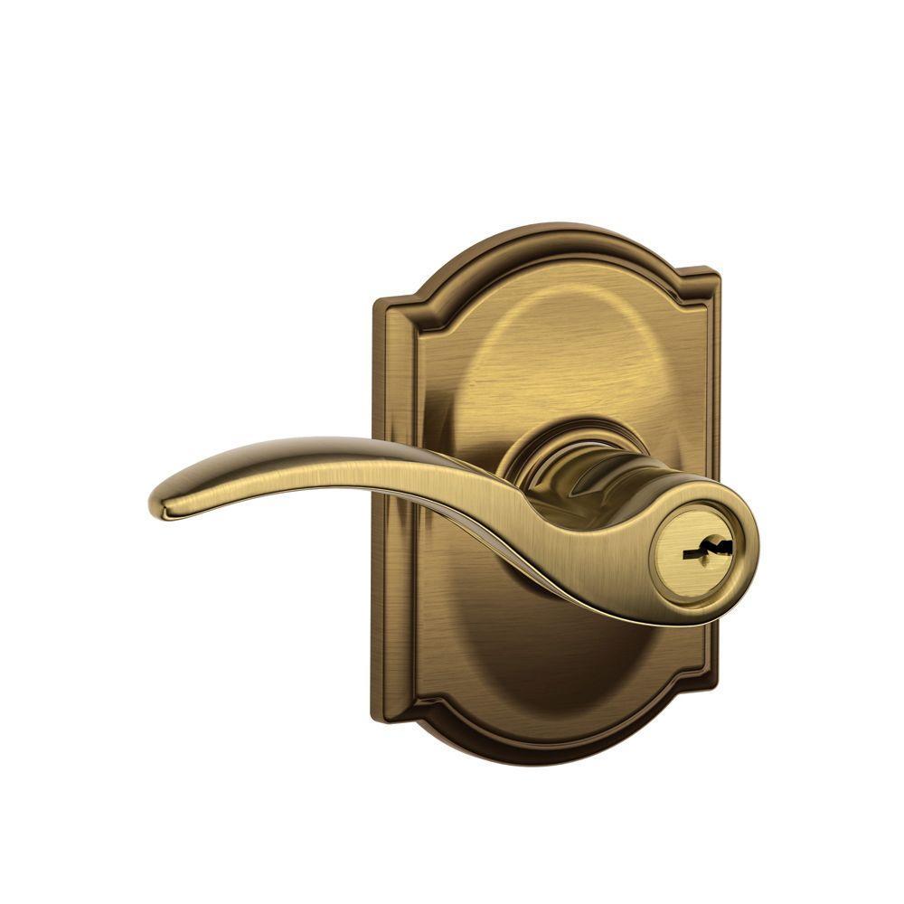 Camelot Collection Antique Brass ... - Antique Brass - Door Levers - Door Knobs & Hardware - The Home Depot