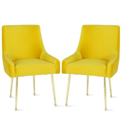 Huxley Mustard Yellow Upholstered Chairs (2-Pack)