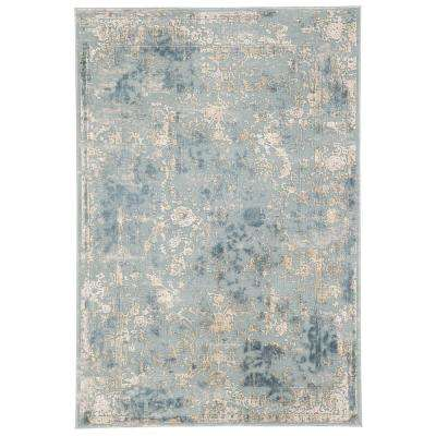 Cirque Blue 5 ft. x 7 ft. 6 in. Floral Rectangle Area Rug
