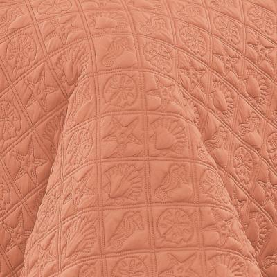 Del Ray 9-Piece Coral/White King Comforter Set